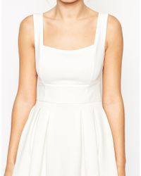 ASOS | White Debutante Midi Dress | Lyst