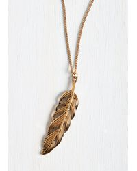 Ana Accessories Inc - Metallic Spotlight As A Feather Necklace - Lyst