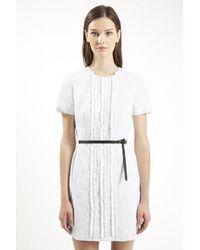TOPSHOP - White Constance Shift Dress By Unique - Lyst