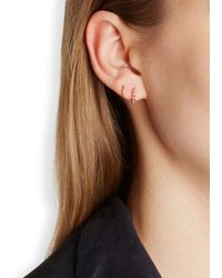Maria Black | Pink Klaxon Twirl Rose Gold-plated Earrings | Lyst