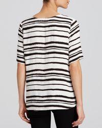 Aqua - White Top - Haiku Stripe Short Sleeve - Lyst