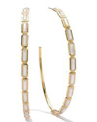Ippolita - White 18k Gold Rock Candy Gelato Rectangular Hoop Earrings - Lyst