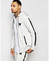 Good For Nothing | Gray Zip Up Hoodie for Men | Lyst