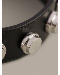 Saint Laurent - Black Studded Bracelet - Lyst