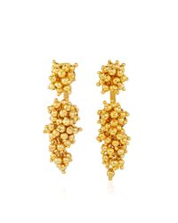 Paula Mendoza - Metallic Gold Plated Two Grapes And Two Mulberries Earrings - Lyst