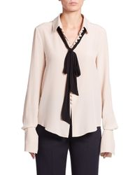 Chloé | White Silk Button-front Blouse | Lyst