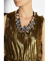 Lanvin | Black Cassiopee Gunmetal-tone Crystal Necklace | Lyst