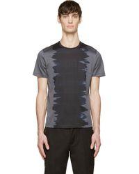Calvin Klein - Gray Grey And Black Watercolour T_shirt for Men - Lyst