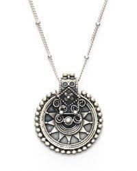 Satya Jewelry - Metallic 'mandala' Pendant Necklace - Lyst