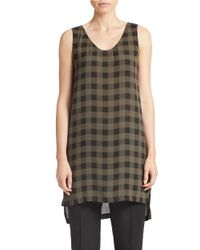 Eileen Fisher - Natural Check Silk Tunic - Lyst