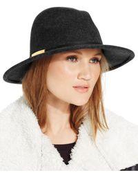 Calvin Klein | Black Wool Felt Panama Hat | Lyst