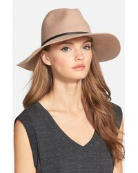 Hinge | Brown Wide Brim Panama Hat | Lyst
