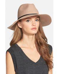 Hinge - Brown Wide Brim Panama Hat - Lyst