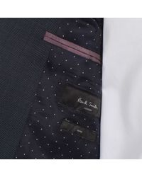 Paul Smith - Blue Men's Tailored-fit Navy Micro-dot Wool 'soho' Suit for Men - Lyst