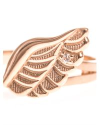 Aamaya By Priyanka | Pink Angel Wings Rose-Gold Plated Ring | Lyst