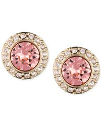 Givenchy | Metallic Pavé Button Stud Earrings | Lyst