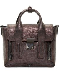 3.1 Phillip Lim - Black And Bronze Mini Pashli Satchel - Lyst