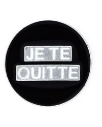 Saint Laurent - Black 'eighties' Pin - Lyst