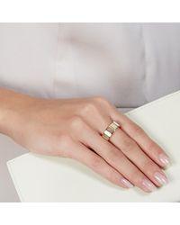 Prismic Rings Dress Rings - Metallic Moonstone Gem Slice Ring - Lyst