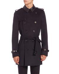 Burberry - Blue Kensington Trenchcoat for Men - Lyst