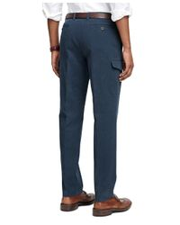 Brooks Brothers | Blue Milano Fit Bedford Cord Cargo Pants for Men | Lyst
