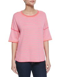 Belford - Pink Reversible Striped Pullover - Lyst