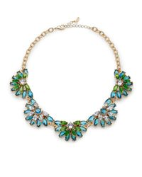 ABS By Allen Schwartz | Green Jewel Floral Necklace | Lyst