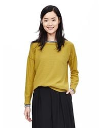 Banana Republic | Yellow Tipped Italian Cashmere-blend Sweater | Lyst