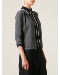Marni - Gray Cropped Cardigan - Lyst