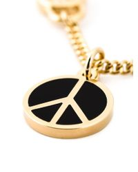 Marc By Marc Jacobs - Metallic Enameled Brass Peace Pendant Necklace - Lyst