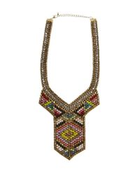 ASOS - Multicolor Spear Bib Necklace - Lyst