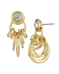 Sam Edelman - Metallic Ringleader Doorknocker Earrings - Lyst