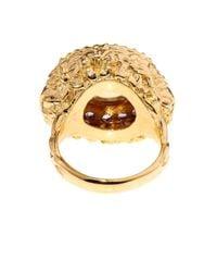 Jade Jagger - Red Citrine & Amethyst Gold-Plated Ring - Lyst