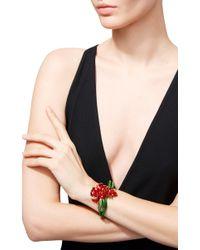 Oscar de la Renta - Red Carnation Cuff Bracelet - Lyst