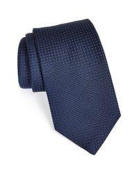 Michael Kors - Blue Woven Silk Tie for Men - Lyst