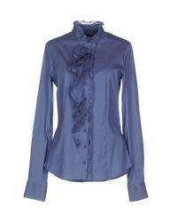 Pinko | Blue Shirt | Lyst