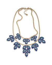 Carolee | Blue Petals Enamel Flower Statement Necklace | Lyst