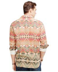 Polo Ralph Lauren - Orange Printed Jacquard Workshirt for Men - Lyst
