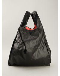 ec44f48816 Lyst - MM6 by Maison Martin Margiela Slouchy Shopper Tote in Black
