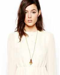 Bill Skinner - Metallic Exclusive For Asos Articulated Monkey Long Necklace - Lyst