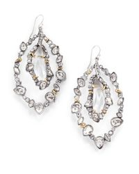 Alexis Bittar | Metallic Crystallace Drop Earrings | Lyst