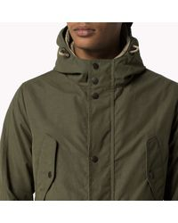 Tommy Hilfiger | Natural Waxed Cotton Blend Jacket for Men | Lyst