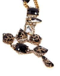 Erickson Beamon - Black 'sacred Geometry' Glitter Crystal Velvet Tie Necklace - Lyst