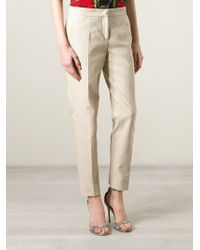 Dolce & Gabbana - Natural Classic Cropped Trousers - Lyst