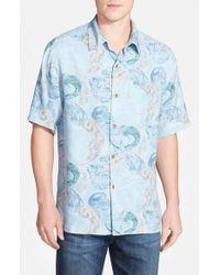 Tommy Bahama - Blue 'breaking Waves' Original Fit Short Sleeve Sport Shirt for Men - Lyst