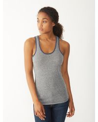 Alternative Apparel - Gray Ringer Racerback Tank Top - Lyst