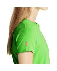 Polo Ralph Lauren | Green Pony Cotton Jersey Tee | Lyst