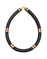 Lizzie Fortunato | Black Double Take Necklace With Rose Gold | Lyst