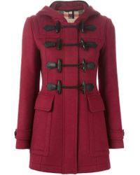 Burberry Brit | Multicolor Hooded Duffle Coat | Lyst