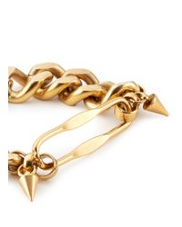 Ela Stone - Metallic 'naomie' Spike Chain Bracelet - Lyst